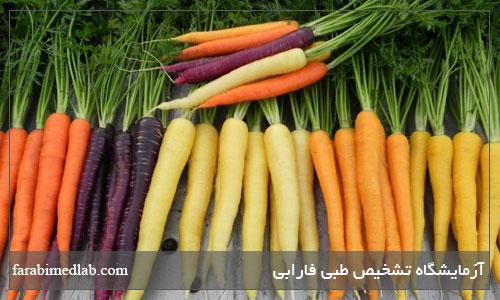 خاصیت هویج